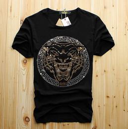 Дизайнер футболки burburry мужские топы голова тигра письмо Вышивка футболка мужская одежда с коротким рукавом футболки женщины топы Амири от Поставщики хлопок лайкра футболки оптом