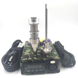 Deutschland Elektrische Tupferanlage Mini Portable ENAIL Wax Vaporizer Kit mit Ti Titan Domeless Coil Heater E Quarz Nagel Silikon Pad Versorgung