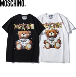Deutschland Großhandel Marke Männer und Frauen T-Shirts 100% Baumwolle Teddybär gedruckt Herren T-Shirts zufällige schwarze und weiße Paar T-Shirts supplier teddy bears t shirts Versorgung