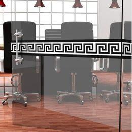 2019 papel pintado para paredes de baño Griego Wallpaper Borders Wall Borders Sticker autoadhesivo para el pasillo baño decoración del hogar impermeable DIY Art Decal 26 diseño papel pintado para paredes de baño baratos