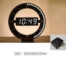modernos, parede, relógios, conduzido Desconto Circular LED fotorreceptoras Digital Wall Clock design moderno Dual-Use escurecimento Relógios digitais para a decoração Home US PLUG UE