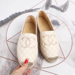 bordado de sapato liso Desconto Sapatilhas Hot Low-Top das mulheres do trabalho manual Sapata do bordado da lona do Rhombus da lona do pescador Sapatilhas ocasionais Sola de borracha Sapatas do Slip-On liso de Ladys