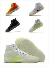 stili di scarpe a buon mercato Sconti mens economici scarpe da basket stile semplice mens nero bianco arancione grigio scarpe da ginnastica da uomo stilista scarpe da basket Chaussures sportive maschili
