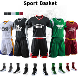 62753c3adf1c New Men s Basketball Uniform Short Sleeve Suit Team Uniforms Professional  Basketball Customization Personality DIY Printing Name and Number