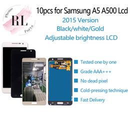a5 display lcd Sconti 10PCS luminosità LCD regolabile per Samsung Galaxy A5 2015 A500 A500F touch screen + display LCD Monitor Panel Assembly