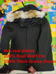 wolves jacket Coupons - Winter man coat Men's Langford Parka Down Jacket Parka Winter Warm Thick Down Coats Hooded real wolf Fur Collar Down Jackets