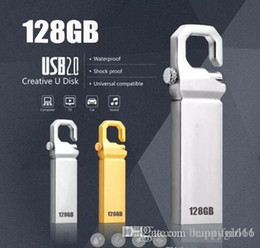 128gb unidades flash al por mayor online-Unidad flash USB de calidad superior 128 GB Unidad flash USB 2.0 de alta velocidad Llavero Memory Stick Regalo Pendrive 64 gb unidad flash usb al por mayor