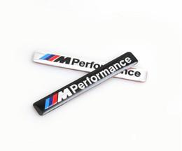 Emblemi in metallo alluminio online-/// M Performance M Potenza 85x12mm Motorsport Logo in metallo Adesivo per auto Emblema in alluminio Griglia Badge per BMW E34 E36 E39 E53 E60 E90 F10 F30 M3