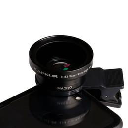Мобильный широкоугольный объектив онлайн-Объектив мобильного телефона 0.35XSupper Wide Angle 2in1 Lens Universal