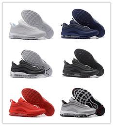Vermelho autêntico on-line-97 UL Og Undftd Metallic triplo Ouro branco prateado Bala preta vermelha Athletic shoes 97S sneaker Esportes autênticos Tamanho do instrutor 40-46
