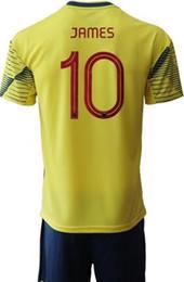Conjuntos de camisetas de fútbol de descuento online-Personalizado 19-20 Columbia 10 James Soccer Sets con pantalones cortos, descuento Barato 9 Falcao 11 Cuadrado 7 Bocca Jerseys Chándales ropa jerseys