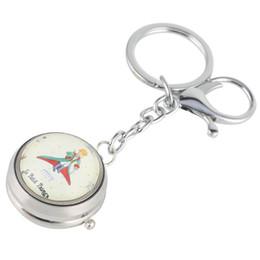 Llavero de cuarzo online-Práctico Números árabes Dial Reloj Colgante Único de plata Turntable Llavero Reloj de bolsillo Moda Unisex Pequeño Cuarzo Relojes de bolsillo