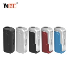 innokin cool kit de départ de feu Promotion Boîte à cigarettes Yocan UNI Mod E Mod pour toutes les largeurs de cartouches Tension de préchauffage Vape réglable Vape Yocan Mods bateau libre