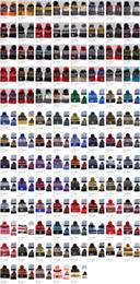 2019 tappi di foglie di acero Inverno 101 stili NHL Maple Leafs Donna Inverno Lavorato a maglia di lana Blackhawks Pinguini Volantini Sharks Berretti Cappelli Uomo HipHop Beanie Cappelli caldi tappi di foglie di acero economici