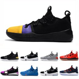 buy popular 3fd34 151cf Kobe AD EP Mamba Day Sail Multicolore Hommes Chaussures De Basketball Wolf  Gris Orange pour AAA + qualité noir blanc Hommes Baskets Sports Sneakers  40-46 ...