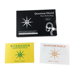 Adesivo mobile anti radiazione online-Quantum Shield Sticker Adesivo per cellulare per cellulare Protezione anti-radiazioni da EMF Fusion Excel Anti-Radiation 6 pezzi / scatola