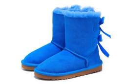 Canada CHAUD Femmes Bottes De Neige Australie Style Étanche Vache En Daim En Cuir D'hiver Dame En Plein Air Bottes Marque Chaussures D'hiver Offre
