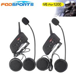 Canada otorcycle Electronics Helmet Headset 2019 Clip en métal +2 pcs V6 Pro BT Interphone 1200M Moto Bluetooth Casque Intercom hea ... supplier bluetooth intercom v6 Offre