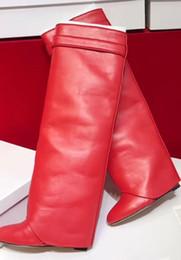 Оптовая продажа-горячие продажа 2018 сексуальные высокие каблуки Красное дно обувь над коленом высокие сапоги мода женщины круглый носок платформы зимние сапоги осень обувь от
