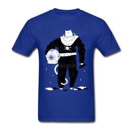 98f921eed 2019 camisetas personalizadas para hombres Deep Sea Diver Cat traje negro  camiseta creador nuevo diseño adolescente