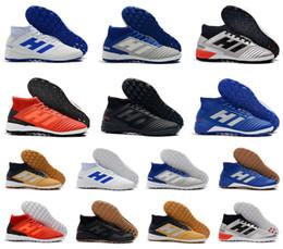 2019 novos sapatos de interior 2019 Novo Predador Tango 19.3 TF IC Interior Ao Ar Livre Paul Pogba PP Turf Alta Tornozelo 19 Mens Chuteiras De Futebol Botas De Futebol Chuteiras Tamanho 6.5-11 novos sapatos de interior barato
