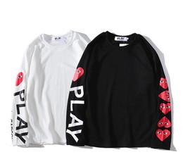 2019 pfirsich-pullover frauen Japanische modemarke frauen hoodies luxus designer lovers pullover hip hop stil arm brief pfirsich herz hoodies. günstig pfirsich-pullover frauen
