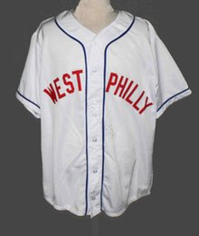 fresh shirts Promo Codes - Cheap WEST PHILLY FRESH PRINCE BASEBALL JERSEY 1 FULL EMBROIDERY Mens Stitched Jerseys Shirts Size S-XXXL Free Shipping