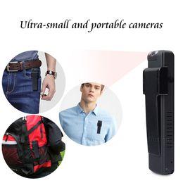 2019 plumas de movimiento Full HD 1080P Mini videocámara Digital Pen Recorder Sensor de movimiento de 360 grados Caindid Action Meeting Video Camera Professional Vlog rebajas plumas de movimiento
