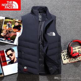 giacche invernali in mens invernali Sconti 2019 New North Winter Gilet da uomo Piumino imbottito Felpe con cappuccio casual da uomo Down Warm Ski Gilet da uomo