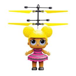 Topsell Grandi occhi bambola RC Drone volante elicottero sfera Aircraft Elicottero lampeggiante del LED in su gioca induzione elettrica del giocattolo LED Gadget da