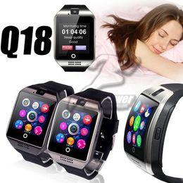 2019 apfel telefonmodelle Explosionsmodelle Q18 Smart Watch mit Bluetooth Smart Camera TF SIM-Kartensteckplatz Pedometer Anti-Lost für Apple-Android-Handys günstig apfel telefonmodelle