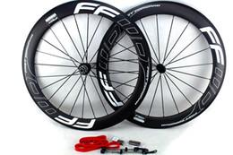 kohlenstoff-straßenräder china Rabatt FFWD Fast Forward Carbon Laufräder 60mm Basalt Bremsfläche Drahtreifen Rennrad Laufradsatz 700C Breite 25mm UD matt