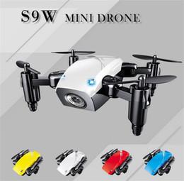 S9W Mini Drone 2.4 GHz 4 Eksenli RC Mikro Quadcopters Başsız Modu Ile Çocuklar Için Noel Hediyesi Uçan Helikopter nereden
