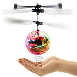 rc fly ball Promo Codes - HaoXin RC Flying Ball Luminous Kid's Flight Balls Electronic Infrared Induction Aircraft Remote Control Toys LED Light Mini Helicopter