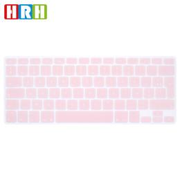 HRH Vente chaude AZERTY Français Durable Clavier Silicone Couverture Protecteur de la peau pour Mac Book Air Pro 13 15