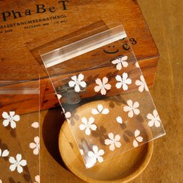 1000шт белый розовый цветок печенье Печенье пластиковые пакеты вишня цветет самоклеящийся целлофан мешок свадебный торт конфеты подарочные пакеты от