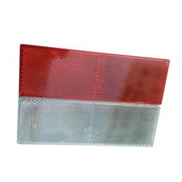 etiqueta branca da motocicleta Desconto 1 PCS vermelha ou branco Adesivo Plástico Refletores Aviso Placa Adesivos Sinal Para Car SUV Truck Safety Motorcycle