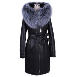 8528e316f42 Al por mayor chaquetas de cuero señora encapuchada online Nueva chaqueta de  cuero genuino de las