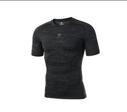 Trajes online-Venta al por mayor PRO nuevo gimnasio deportes body stretch manga corta de secado rápido camiseta de baloncesto correr entrenamiento ropa mejor