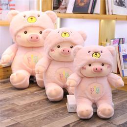Biscoito rosa rosa on-line-20170721 adorável porquinho de pelúcia bichos de pelúcia brinquedos um presente de aniversário rosa branco roxo 45 cm algodão pp