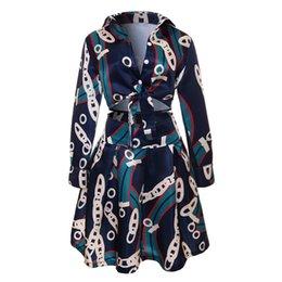Золотые юбки онлайн-Дизайнерские женские из двух частей платье золотые цепочки узоры платья роскошные женские рубашка с длинным рукавом + бедра юбка азиатского размера S-3XL