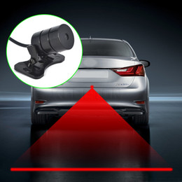2019 luce del motociclo Auto Anti-collisione Laser Fendinebbia Auto Anti-fog Parking Stop Indicatori di segnale di frenata Motorcycle LED Warning Light Car-Styling luce del motociclo economici
