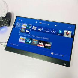 tv-schaltungen Rabatt Hochwertiger tragbarer 15,6-Zoll-4K-Spielemonitor für PS4 PRO XBOX NS MacOS HD 3840 * 2160 IPS Typ C-Bildschirm mit HDR-Lautsprecher