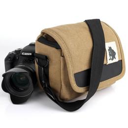 2019 cámara dslr de lona Lona DSLR Cámara Bolsa Bolsa de fotos Estuche para X-T10 X-T20 X-T2 XT100 XA5 XA10 XA3 XT1 E-M10 III E-M5 Mark II E-PL7 cámara dslr de lona baratos