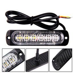 2019 luces intermitentes de peligro 1pc 12 / 24V 6-LED Car Truck Advertencia de emergencia LED Estroboscópico Destello de luz Peligro intermitente Lámpara de conducción DayLight Bar Police Firefighter rebajas luces intermitentes de peligro