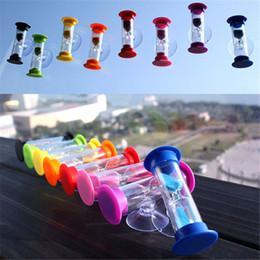 Зубная щетка онлайн-ColorfulMini 3 минуты песочные часы песочные часы песочные часы таймер ампулета для чистки зубов таймер для душа присоска многоцветный детские песочные часы