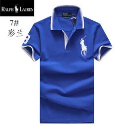 2019 мужские гольф-поло Ральф поло Лорен футболка мужская рубашка поло отдых на природе Поло хлопок полосатая футболка лацкан гольф-рубашки поло качество футболки мужские марки футболки дешево мужские гольф-поло