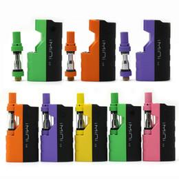 Chiudere le luci della batteria online-Kit Mod Imini V2 originale Kit Mod Vape da 650mAh Kit VV con LED Luci Cartucce Vape 0.5ml 1.0ml Vaporizzatore 11 colori