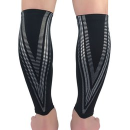 sutiã elástico Desconto Suporte Sports compressão bezerro manga respirável quente Leggings Elastic Caneleira Voleibol Basquetebol Futebol Calf Brace