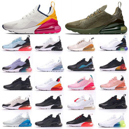 Argentina Official 2019 New 270 Mini Hot Punch Pink Blue Women Running Shoes Triple Blanco Rojo Amarillo Olive Volt Mujer Hombre 270s Flair 27C cheap hot running shoes Suministro